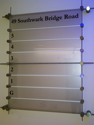 Interior Sign (SouthwarkBridge)