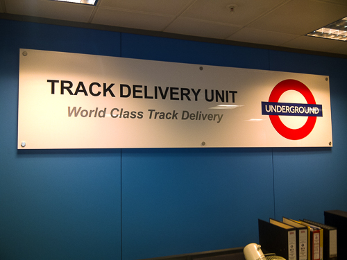 Interior Sign for TFL