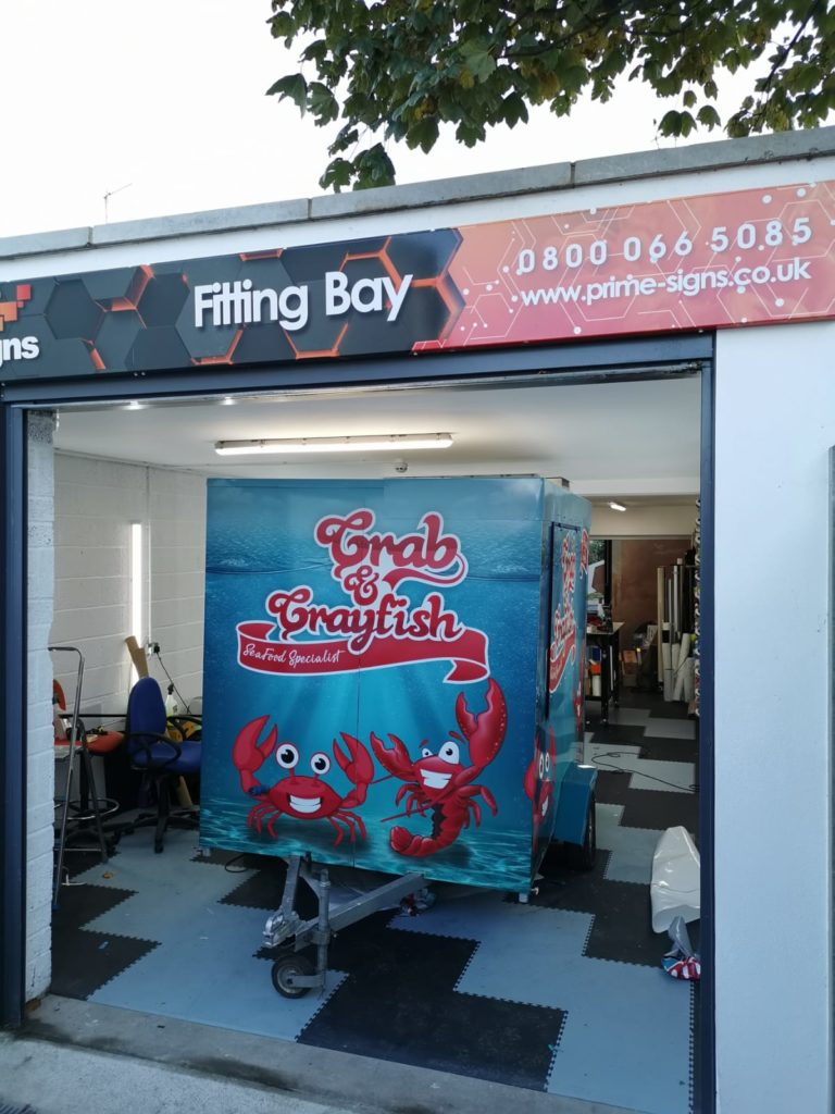 Crab and Crayfish Trailer Wrap in Fitting Bay