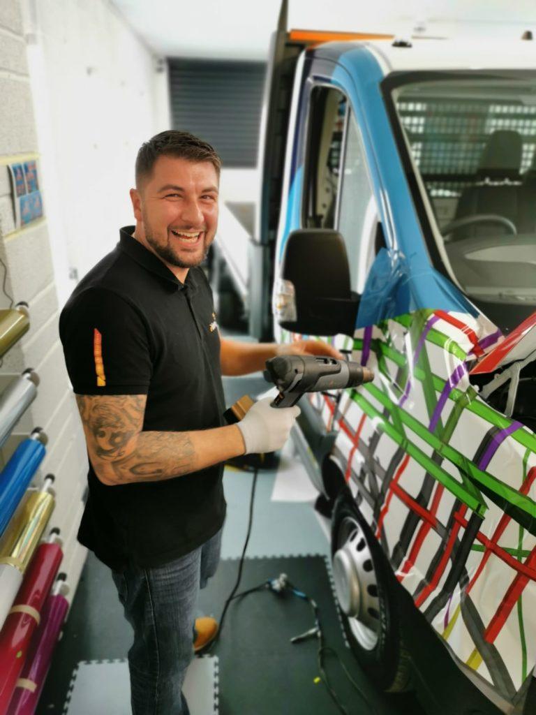 Vinyl Wrap on Truck