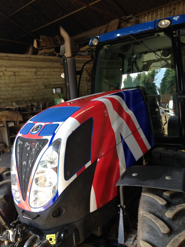 Union Jack Tractor Wrap