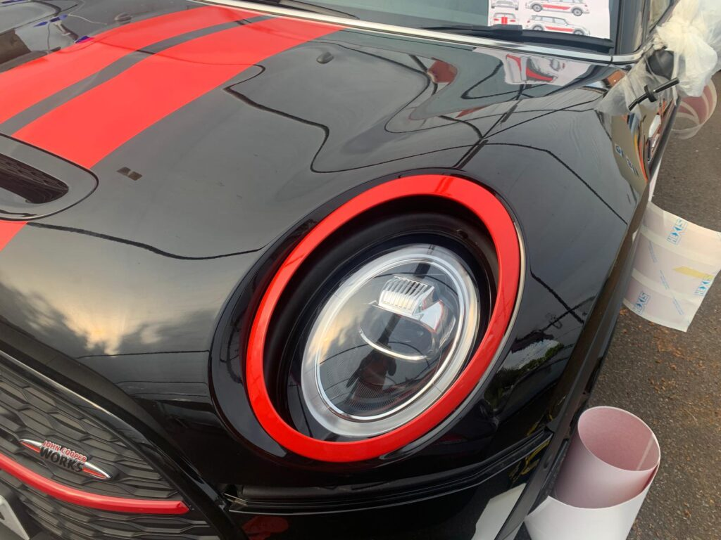 Black and Red Mini Front After