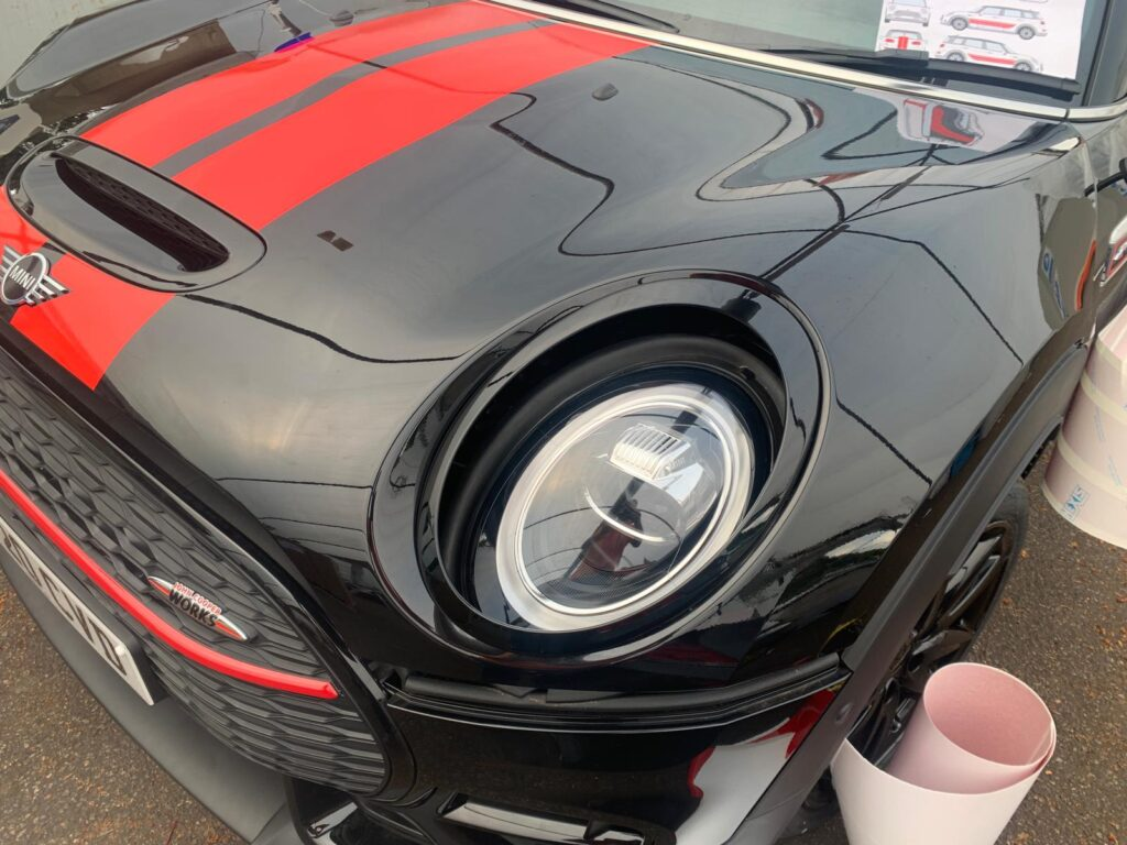 Black and Red Mini Front During