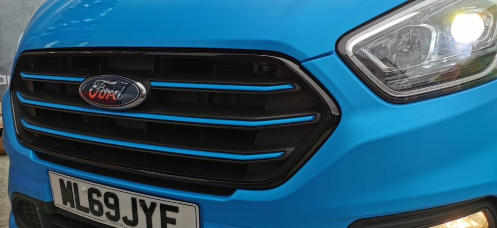 Blue Stripes on Grill