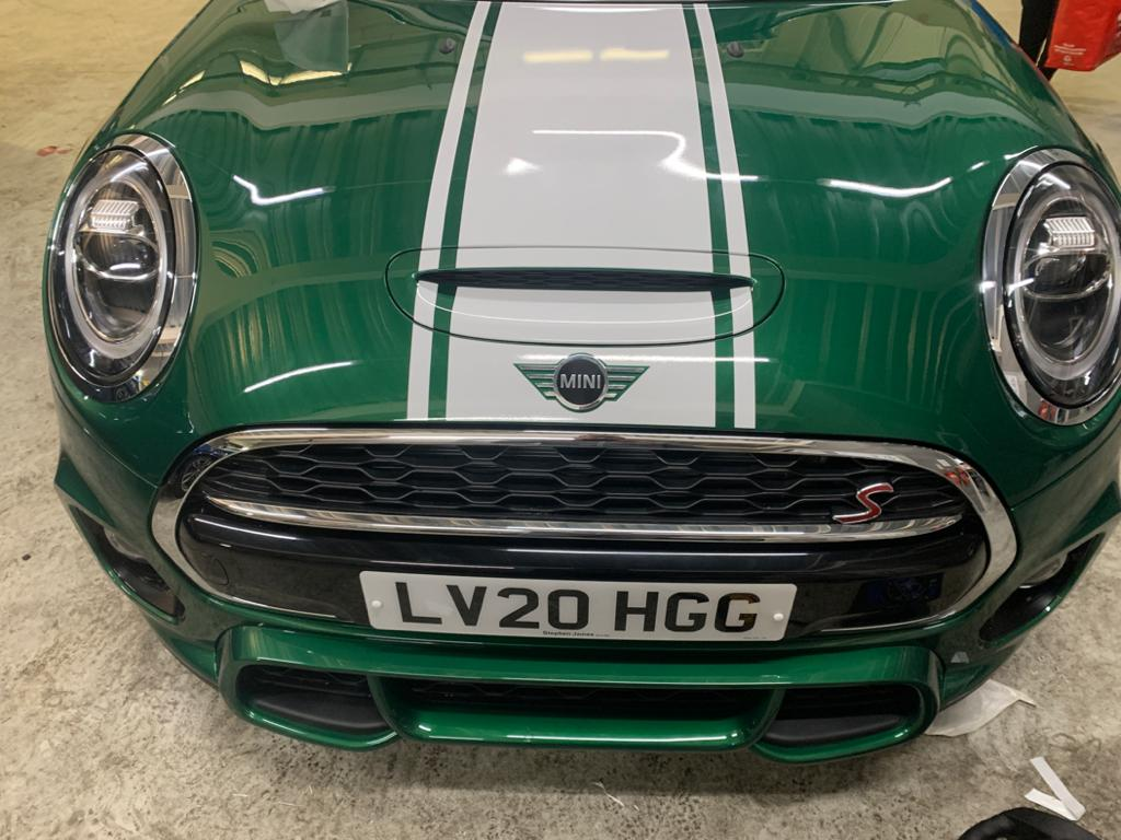 Green and White Mini Bonnet